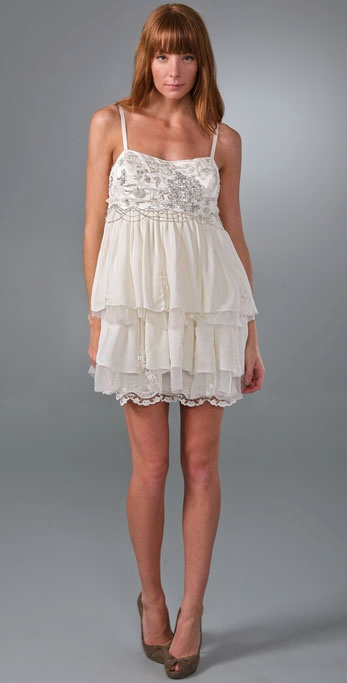 ALICE & OLIVIA WHITE PARTY DRESS